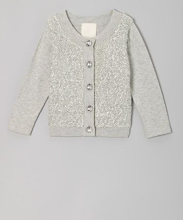 La Piccola Danza Gray Sequin Cardigan - Girls | Sequin cardigan ...