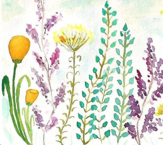 Keep It Simple Watercolor Horizontal Print by ASingleStroke
