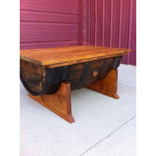 Oak Half Bourbon Barrel Coffee Table With Storage 20305 PHP