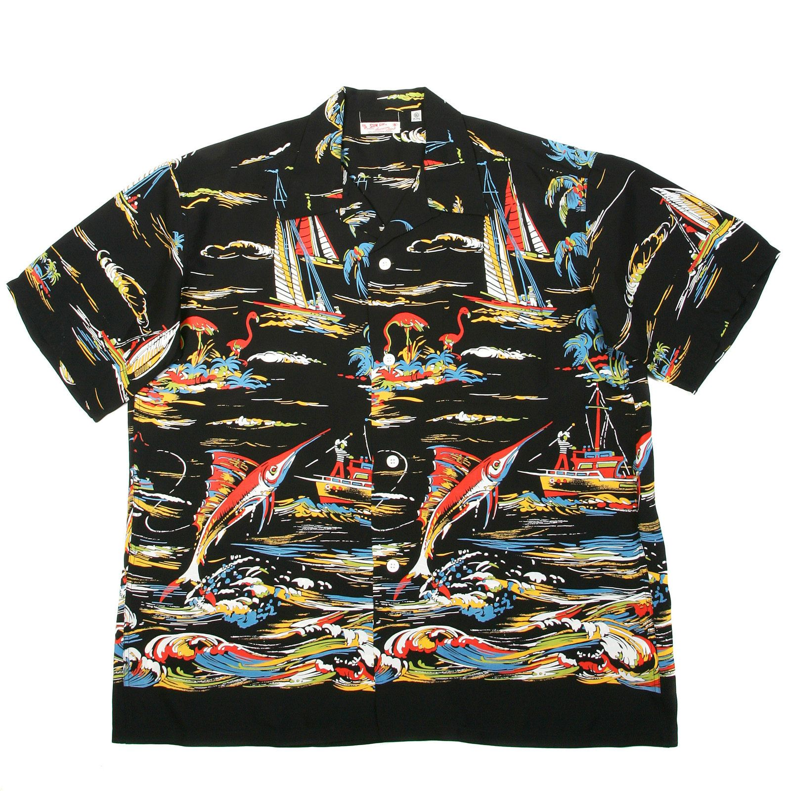 63eea97df Sun Surf Hawaiian shirts SS33322 Hawaiian Fishing Boat Shirt ...