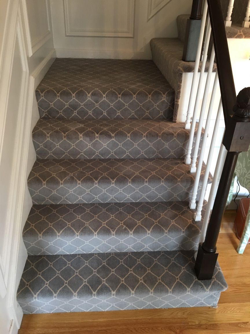Best Wool Trellis Carpet Installed On Stairs In Duxbury March 400 x 300
