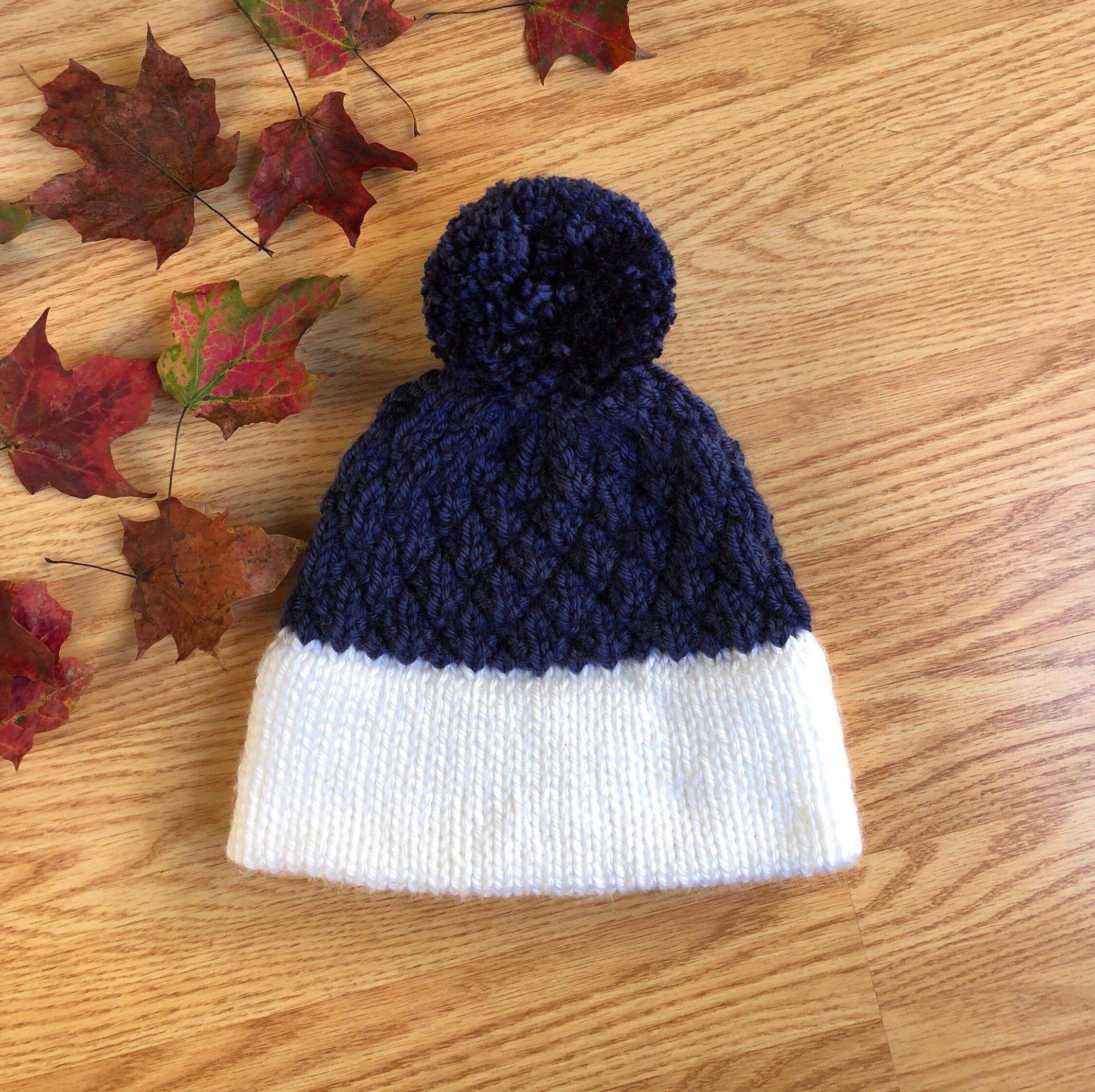 7147882cea9f44 Irinda beanie - double brim adult beanie - winter cozy hat - double brim  blue hat - double brim hat