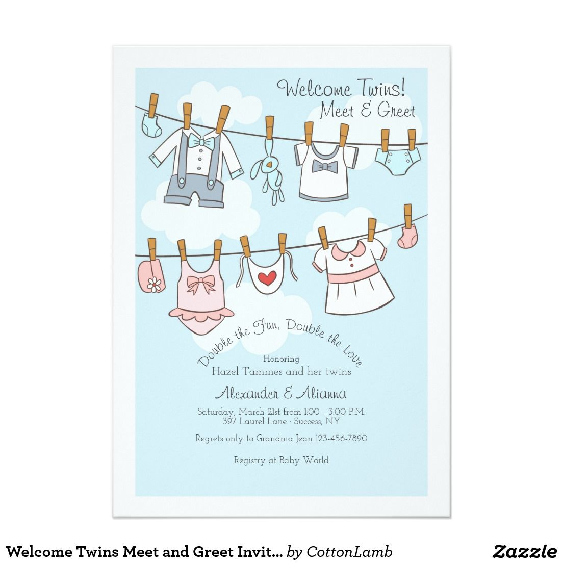 Welcome Twins Meet And Greet Invitation Pinterest Twins