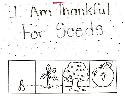 LDS Nursery Color Pages: 10 - I Am Thankful for Trees, Plants & Flowers