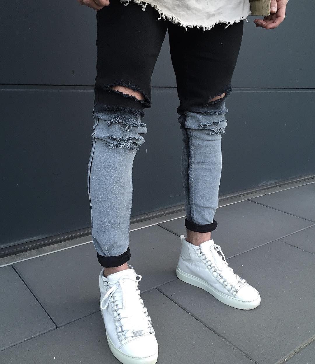 Black light Grey Destroyed Jeans By: @loyalkids_de  Available online!  http://ift.tt/1V3wkjj by khurshednuriddinov