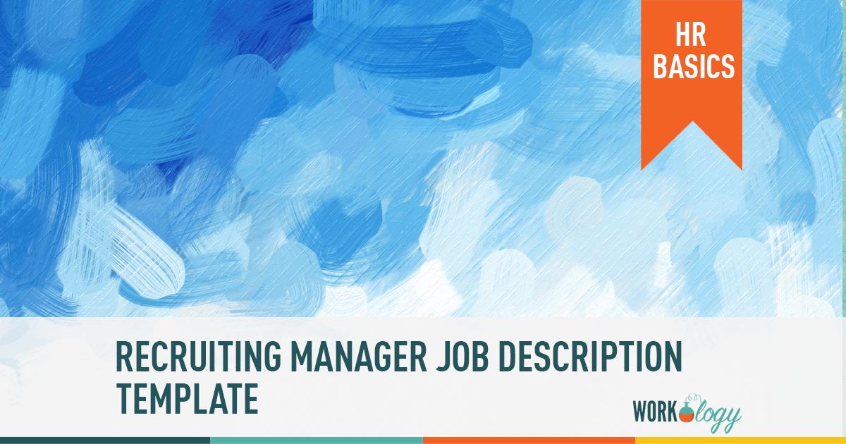 Recruiting Manager Job Description Template Job Description Job Description Template Recruitment
