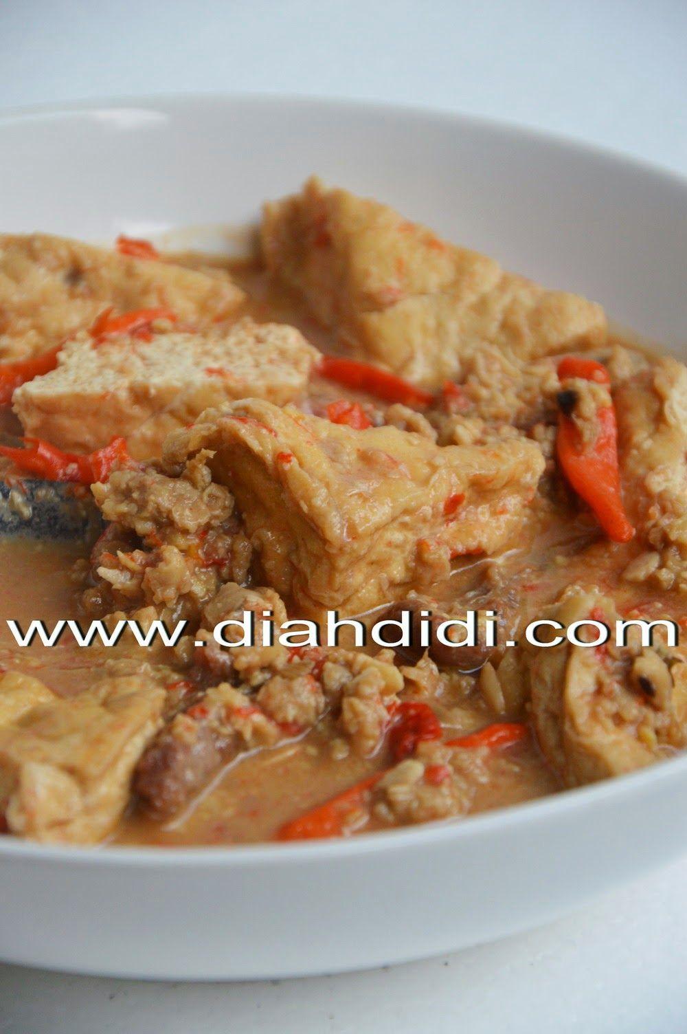 Diah Didi S Kitchen Sambal Tumpang Tahu Makan Malam Resep Tahu Resep Masakan