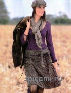 вязаные юбки спицами 12 моделей с описанием вязание спицами