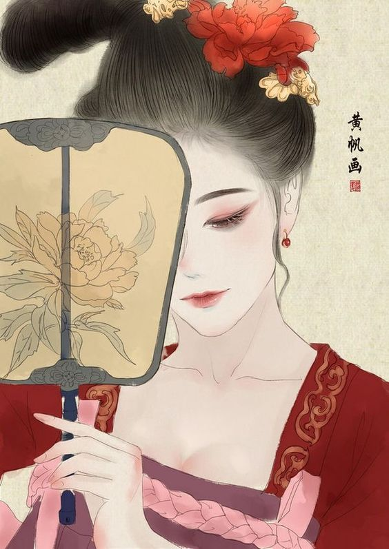 Chinese Hairstyles Girl Paintings Japanese Art Drawing Manga Board Creative Pictures Medieval