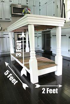 DIY Kitchen Island Idea Box by Diana Mackie | Paint furniture ...