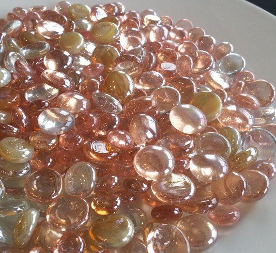 Vase Filler Pink Champagne Amp Clear Flat Back Glass Gem