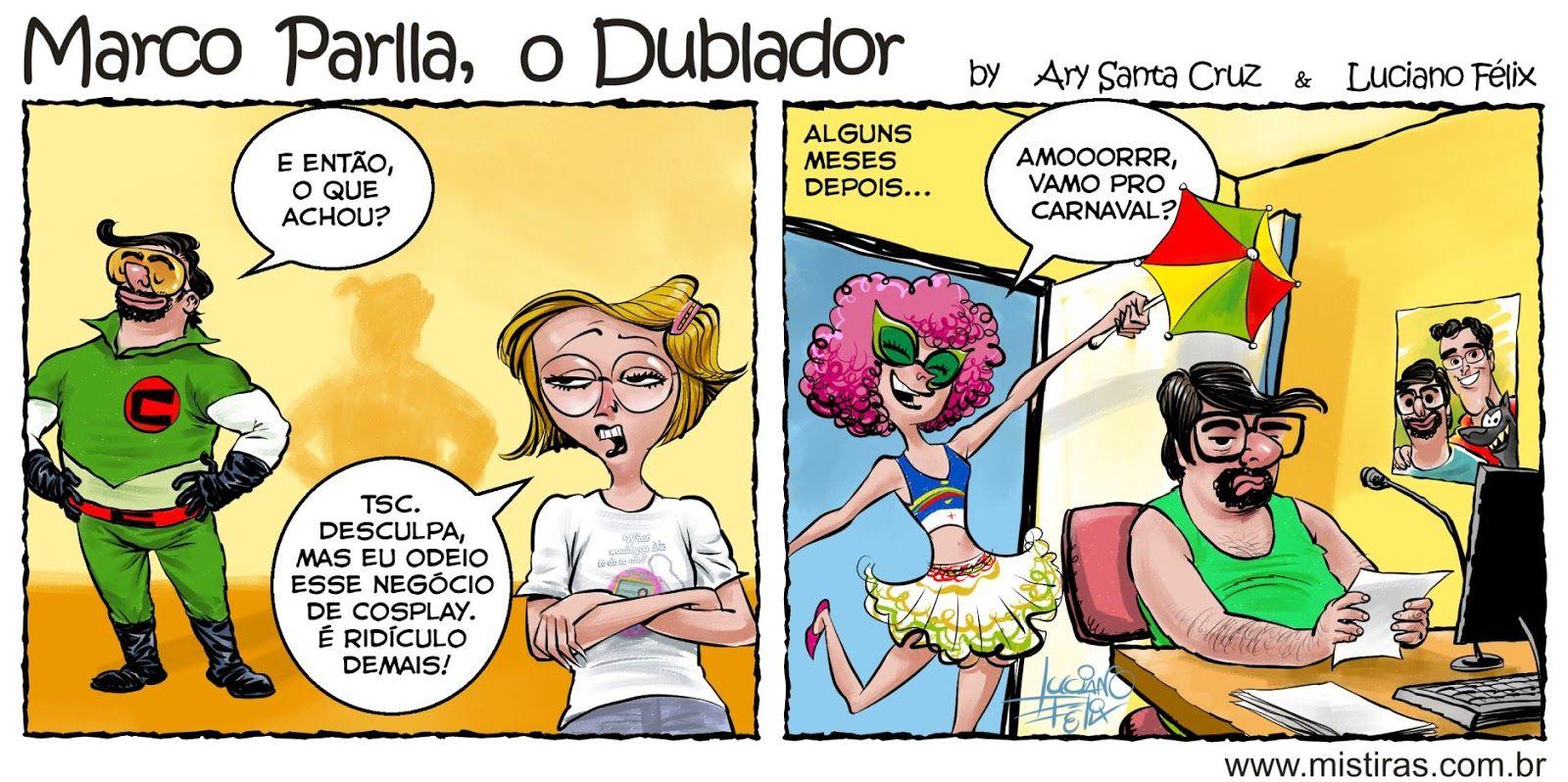 Tirinha do Marco Parlla no cosplay de Conversor por Ary Santa Cruz e ...