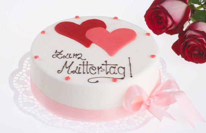 Kuchen mit Herz - Geschenk-Ideen Muttertag