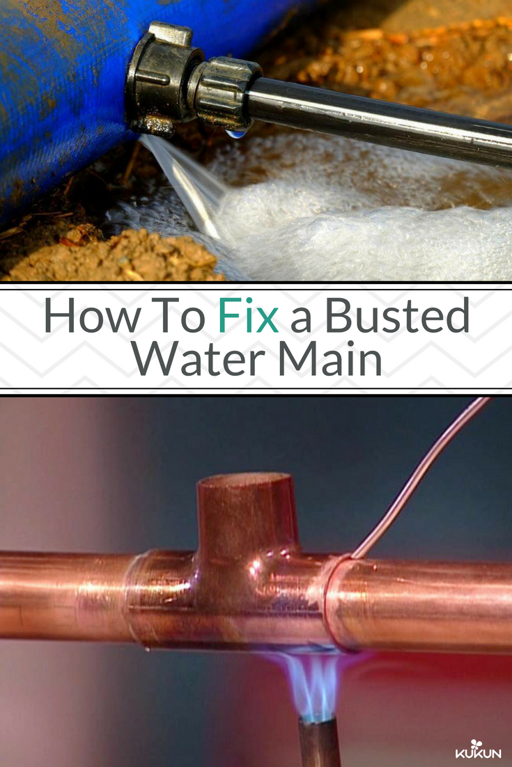 How to fix a busted or leaking water main water
