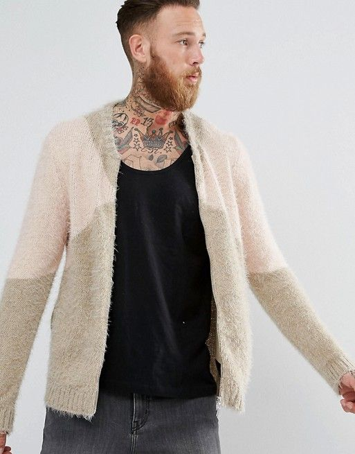 asos knitted bomber jacket