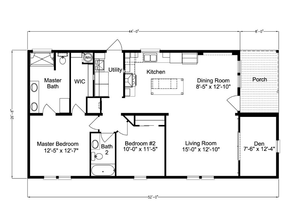 The Cottage Farmhouse Palm Harbor Homes Florida Only Floor Plans Floor Plans Ranch Modular Home Floor Plans