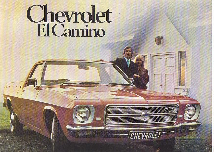 Front Cover Of The Brochure For The Chevrolet El Camino The South