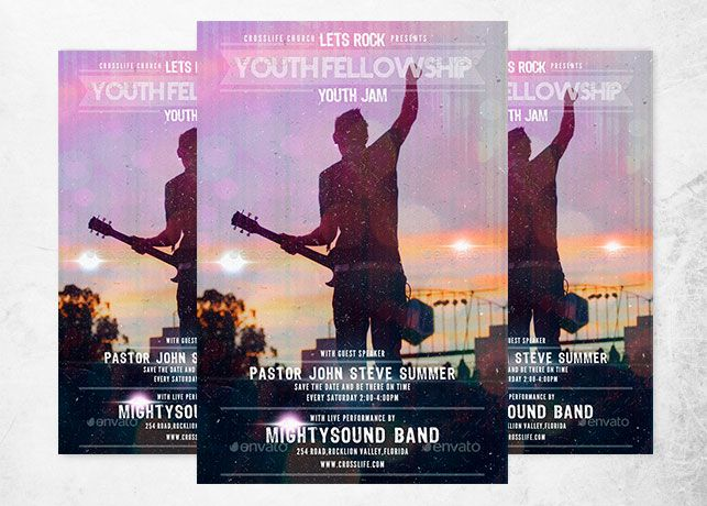 Youth Fellowship Church Flyer Church Print Templates Pinterest - christian flyer templates