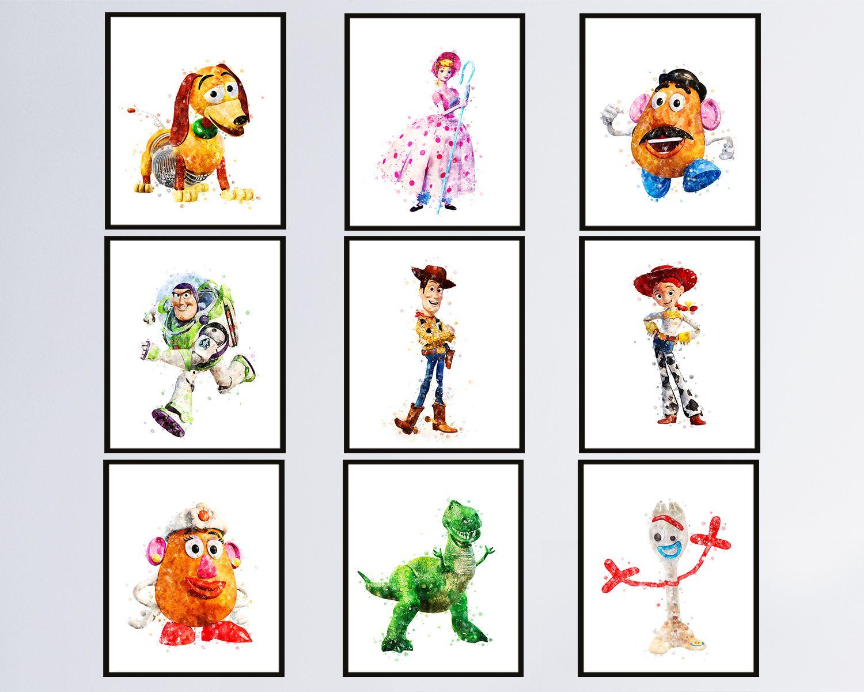 Toy Story Set Of 9 Art Print Toy Story Illustration Jessie