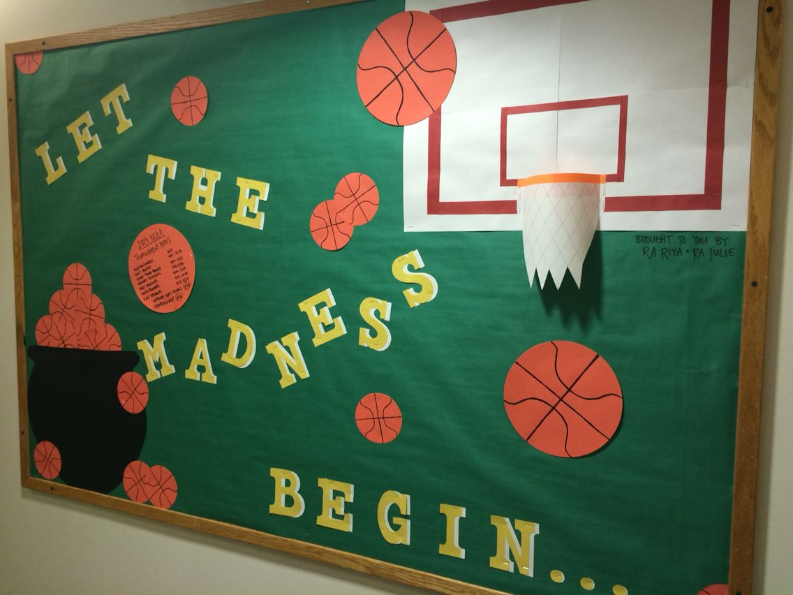 Classroom Decorations For March ~ March madness bulletin board marchmadness ralife
