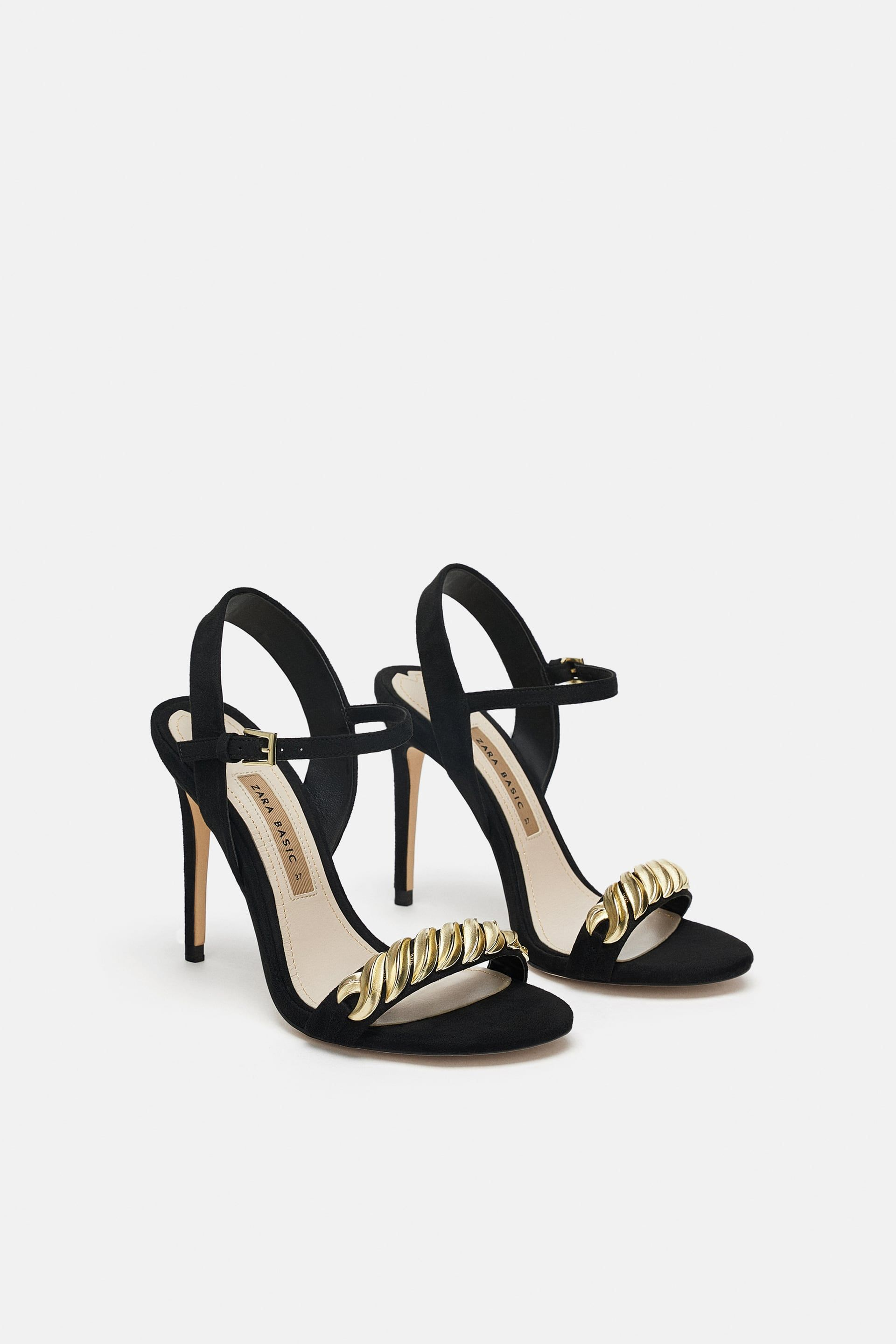2cbad0e002a Image 1 of HIGH HEELED SANDALS WITH CHAIN from Zara