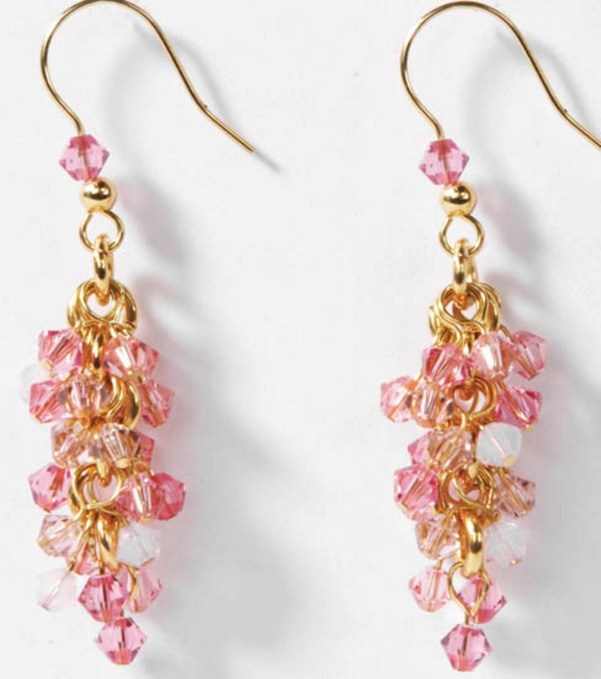 pink cluster earrings for #mothersday | mother's day jewelry diy