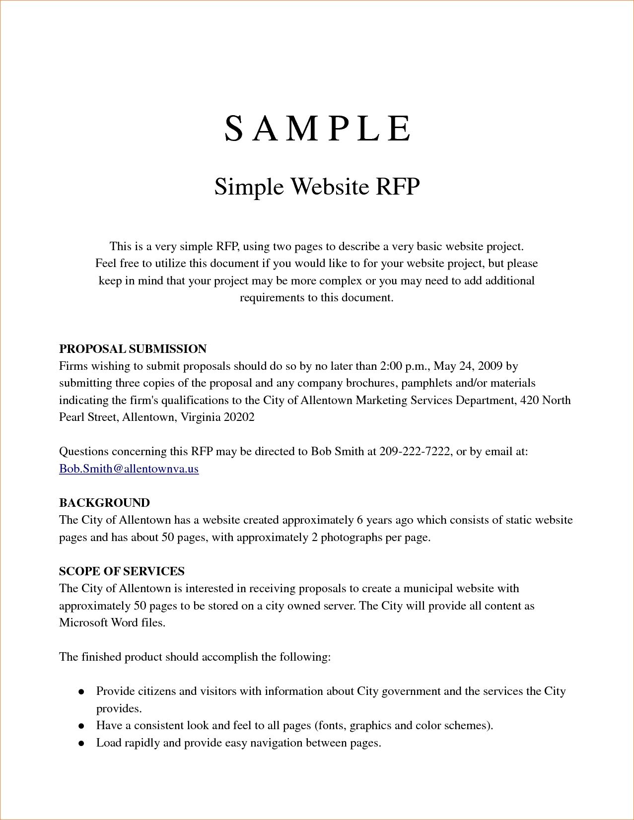 Rfp Template A Pricing Template Is Beneficial Since It Makes It A Lot Le Free Business Proposal Template Business Proposal Template Project Proposal Template