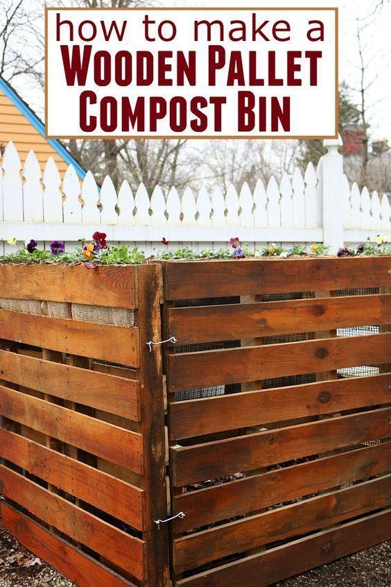 wooden pallet compost bin - Garden Ideas Using Wooden Pallets