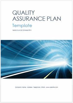 This Template Pack Includes A Page Quality Assurance Plan
