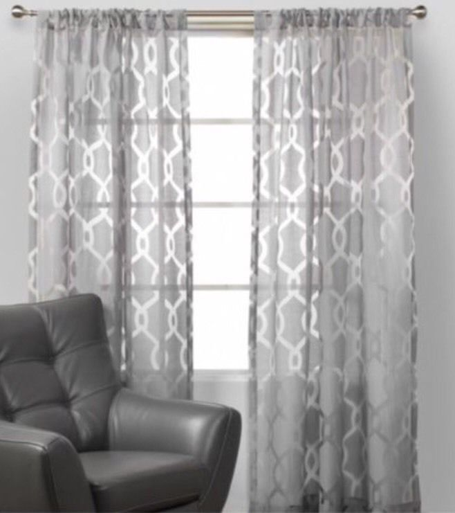 2 new z gallerie curtains chanel drapes window decor gray sheer