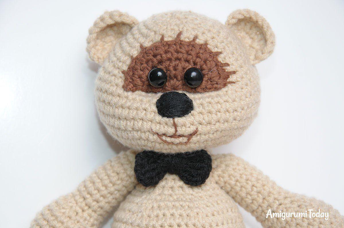 Amigurumi Crochet Patterns Teddy Bears : Amigurumi wedding bears crochet pattern groom bow tie