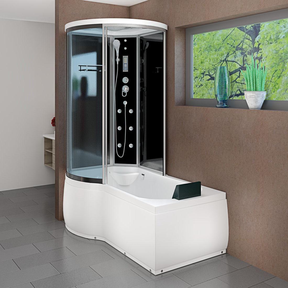 Acquavapore Dtp8055 A301r Dusche In 98x170cm Trendbad24 Badewanne Mit Dusche Badewanne Duschkabine