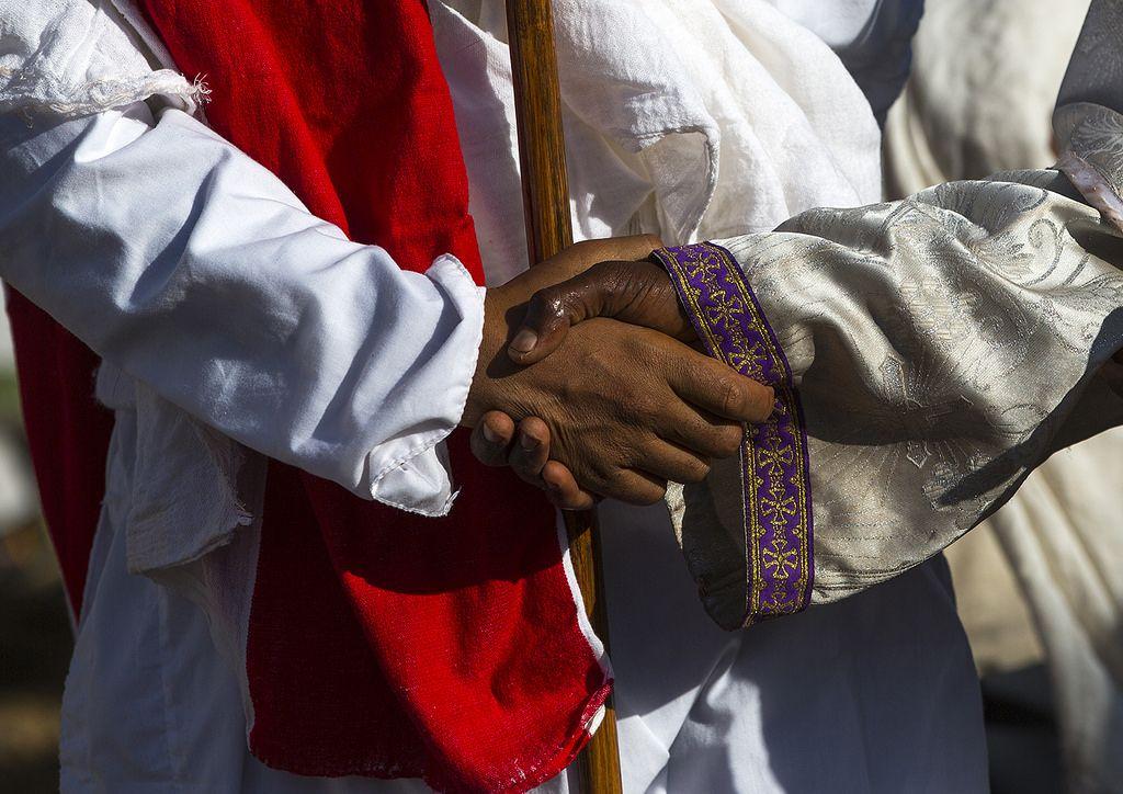 Thiopian Orthodox Priest During The Timkat Epiphany Festival, Lalibela, Ethiopia