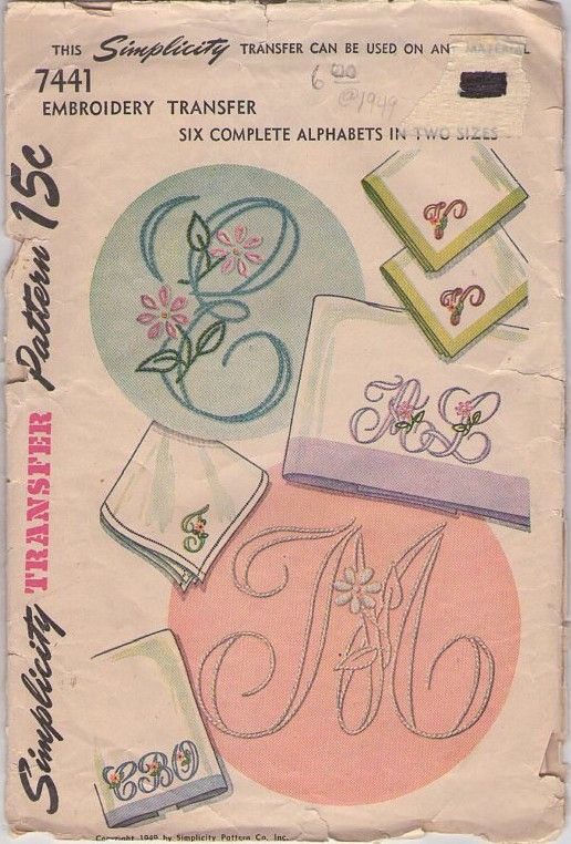 MOMSPatterns Vintage Sewing Patterns - Simplicity 7441 Vintage 40\'s ...