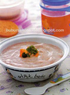Resep Bubur Tips Trik Sehat Bayi 6 12 Bulan Bubur Ayam Beras Merah Food Chowder Cheeseburger Chowder