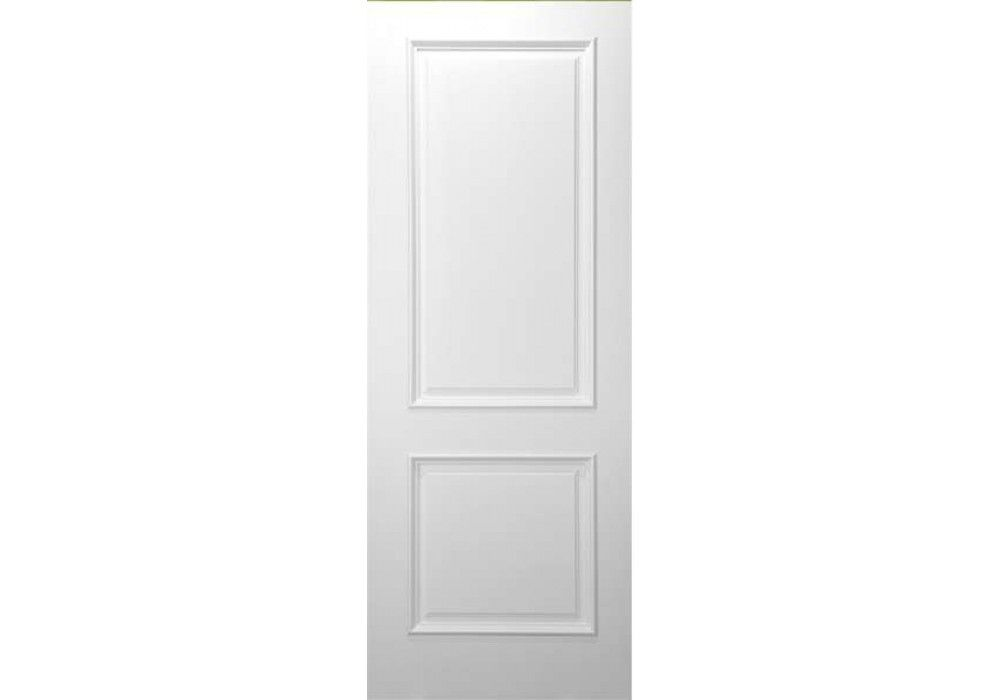 2 Panel Square Top White Primed With Raised Moulding 1 34