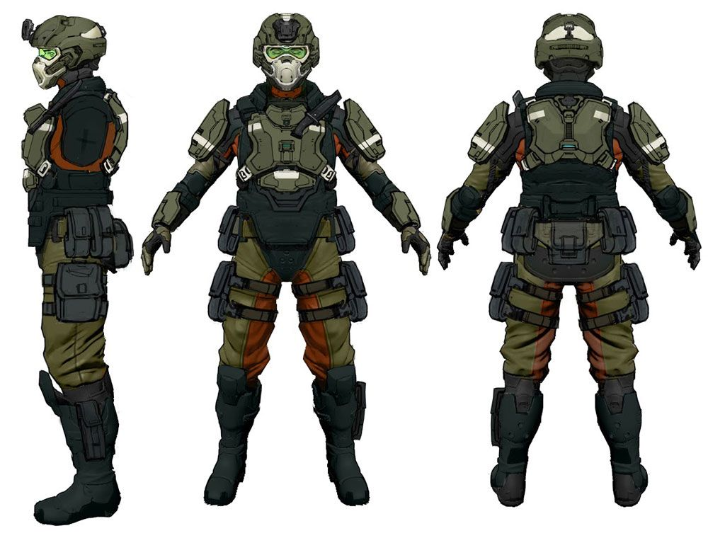 halo 4 art pictures unsc marine infantry