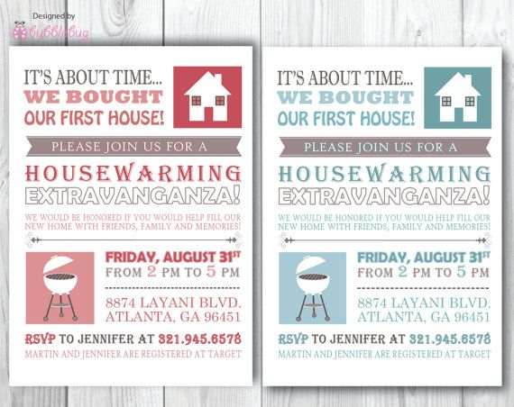 First House Cookout Housewarming Invite
