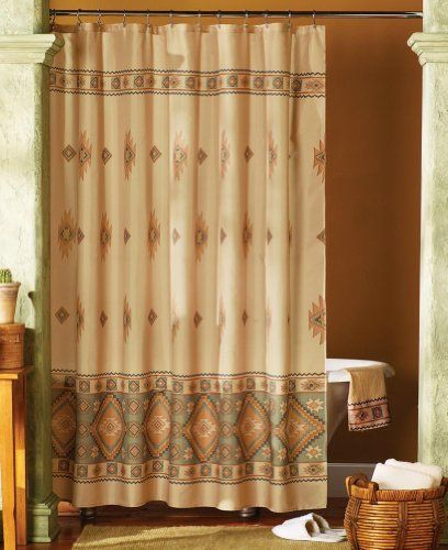 Santa Fe Southwest Bathroom Shower Curtain Collections Etc Smileamazon