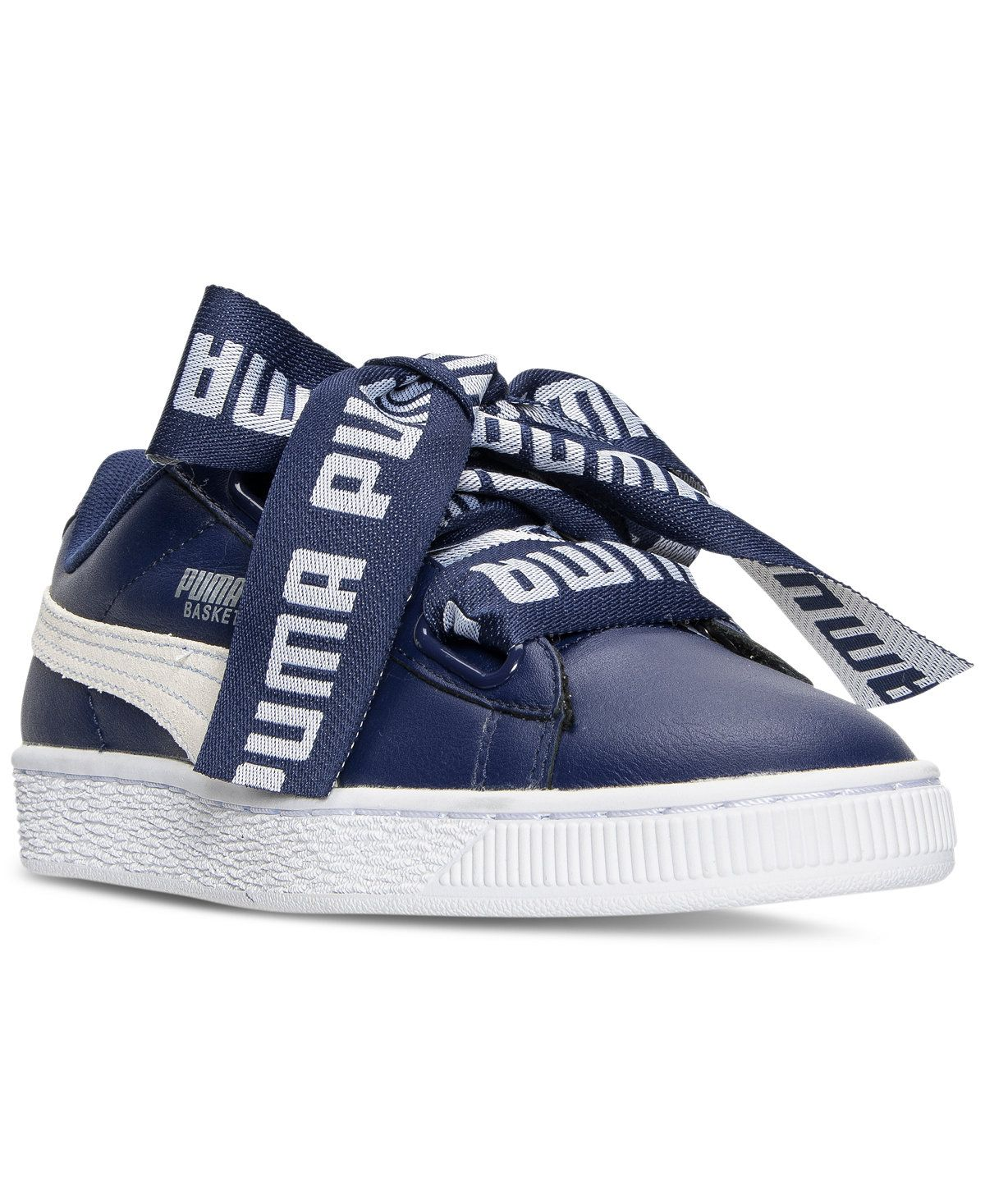 new product 81fae 3bb72 Puma Women s Basket Heart DE Casual Sneakers from Finish Line - Finish Line  Athletic Sneakers - Shoes - Macy s