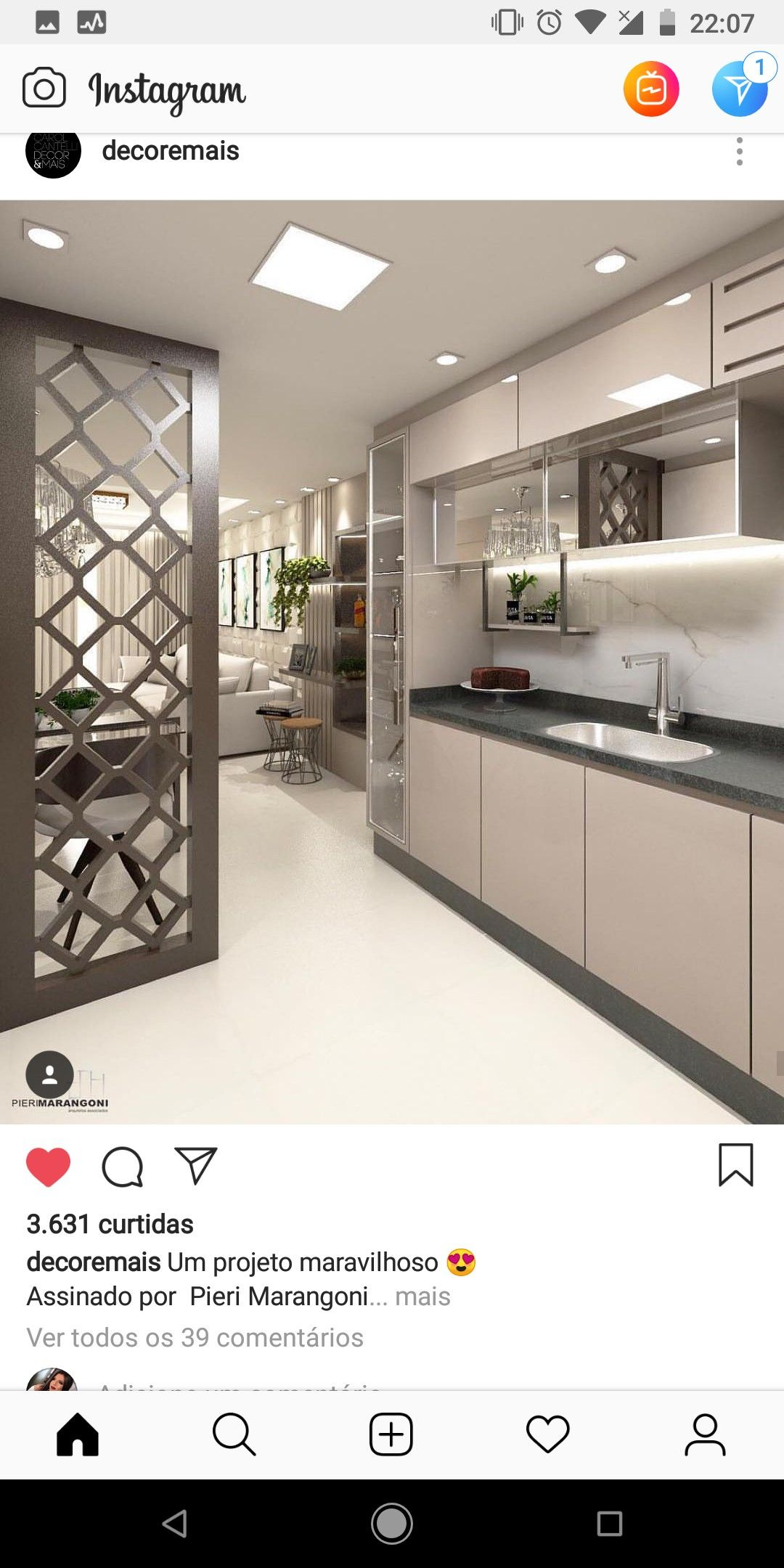 A Cutlery Rack Protruding Into The Dinning Hall Kitchen Bar Design Modern Kitchen Design Kitchen Furniture Design
