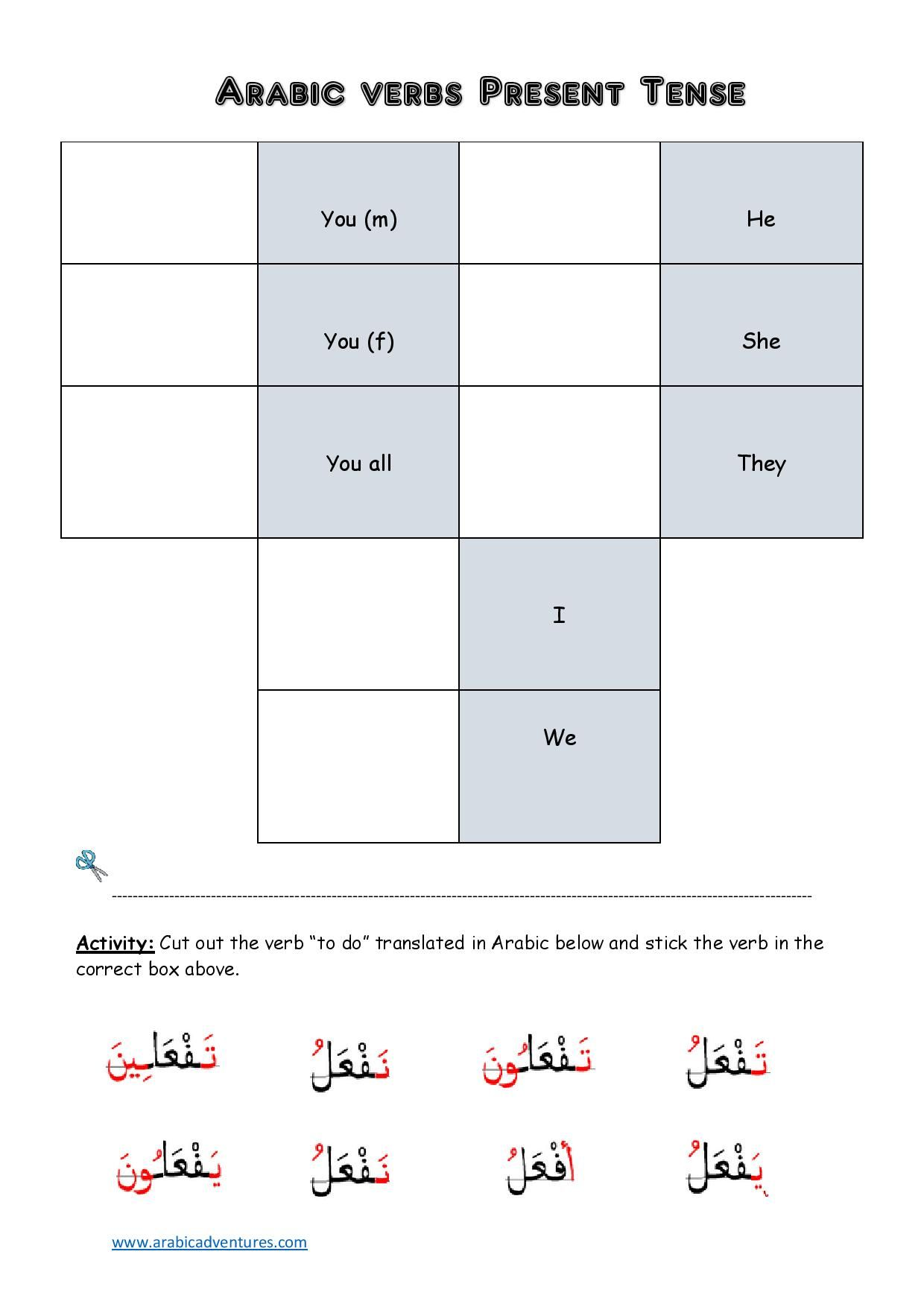 Arabic present tense activity