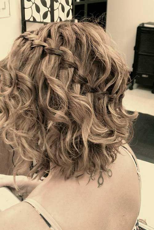 24 Cute And Simple Short Hair Short Wedding Hair Cute Hairstyles For Short Hair Curly Braided Hairstyles