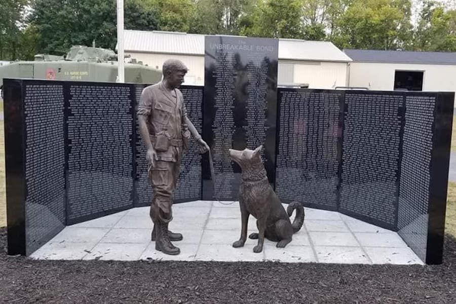 New Memorial to Vietnam War Dogs Celebrates 'The