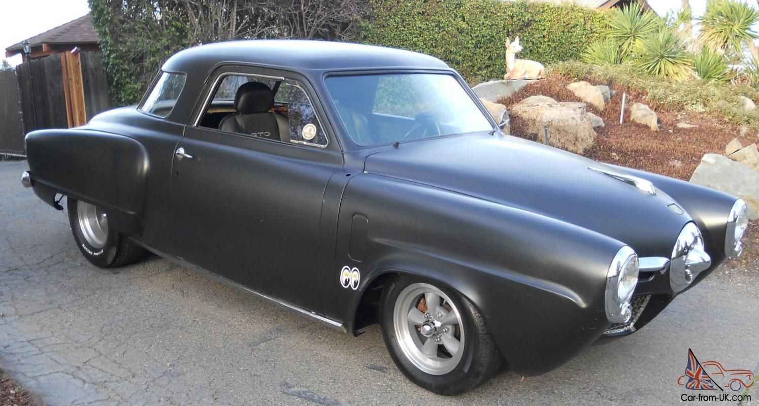 Bullet Nose Old school hot rod , tubbed flat black paint | Ideas for ...