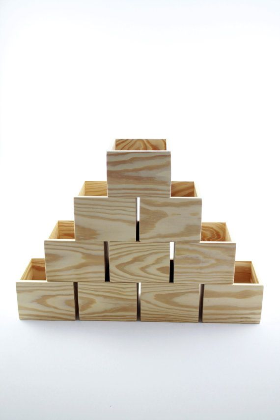 10 Wood Boxes 5 X 5 X 4 Wedding Centerpiece Boxes Storage Organizer Box Art Table Numbers Home Decor 10 5x5x4 Boxes Unfinished Box Wedding Centerpieces Wooden Boxes Handmade Wooden Boxes