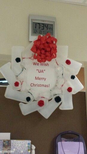 urinal christmas wreath