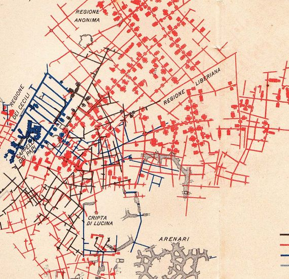 Callisto Map Rome Catacombs Plan Sa...