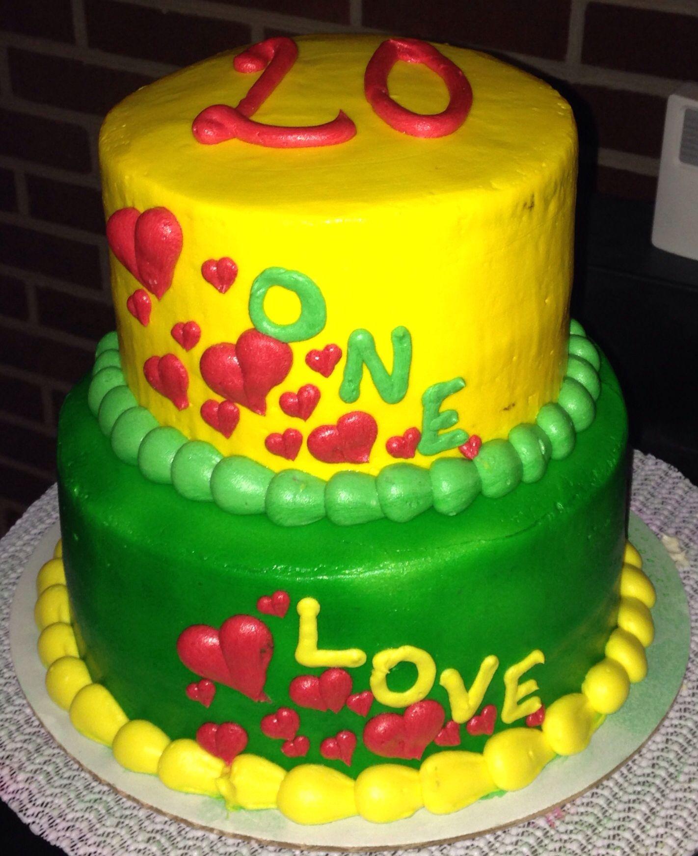 Rastafarian one love cake cakes Ive made Pinterest Cake
