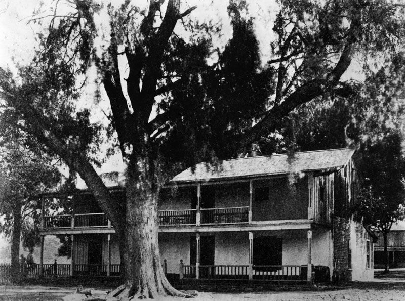 Exterior View Of A Two Story Adobe Home Of Don Diego Sepulveda, Erected In  Location: 700 Block Of Channel St, San Pedro.